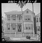 Galveston, Texas. Typical architecture.  Vachon, John, 1914-1975, photographer.    CREATED/PUBLISHED  1943 May. Galveston Texas, Library Of Congress, Deep, Island, History, Architecture, American, Heart, Photos