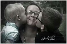 Mom with kids photo