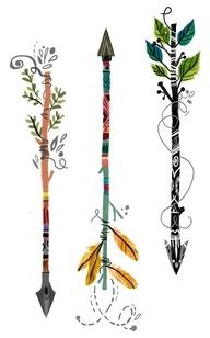 arrow tattoo - Google Search Love The middle one! But without all the curly shit