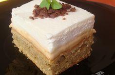 Kávovo - karamelové kostky Cheesecake, Food, Sheet Cakes, Cheesecake Cake, Cheesecakes, Essen, Cheesecake Bars, Yemek, Meals
