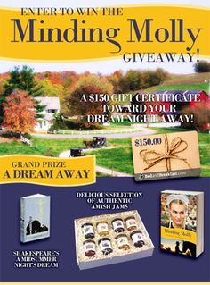 Another terrific book from Leslie Gould! Minding Molly is a page-turning story that you won't want to put down. Celebrate the book's release by entering a fantastic giveaway including $150 towards an overnight bed and breakfast getaway! https://promosimple.com/ps/3cd0