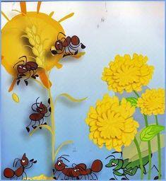 """Θεατρικό καλοκαιριού (3): """"Ο τζίτζικας και ο μέρμηγκας""""   mikapanteleon-PawakomastoNhpiagwgeio   Bloglovin' Fairy Tale Activities, Conte, Holidays And Events, Tigger, Fairy Tales, Disney Characters, Fictional Characters, Dinosaur Stuffed Animal, Kindergarten"""