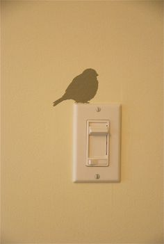 I'd love to do a bunch of these tiny stencils around the house - just little surprises you barely notice