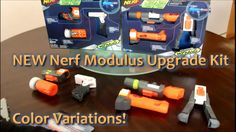 Here today, we will be doing an unboxing and review of the new Nerf Modulus Long Range and Stealth Ops Upgrade kit color schemes! The new kits include new versions of the original Nerf Modulus Upgrade Kit attachments, but without the green color strips.