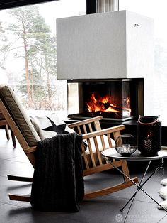 Modern and ecological villa in Finland by krista keltanen photography Helsinki, Barcelona Chair, Home Pictures, Scandinavian Interior, Warm And Cozy, House Tours, Villa, Home Appliances, Cottage