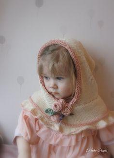 KNITTING PATTERN hooded cowl Vivian (baby, toddler, child, adult sizes)
