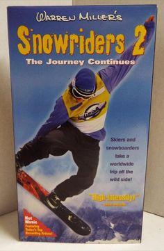 Snowriders 2: The Journey Continues (VHS, 1998) Warren Miller