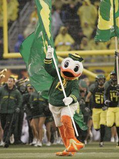 The Oregon Duck at Autzen Stadium.