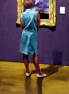 The Art of Art Appreciation: Paintings Of People Looking At Paintings (artist Karin Jurick)