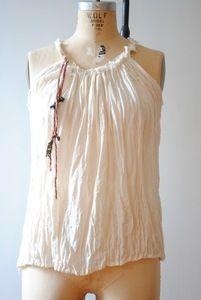 Image of gauze blouse natural