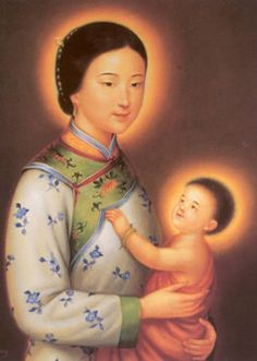 Losing my religion. my story on how my Chinese family became Roman Catholic in Calcutta, India. Religious Images, Religious Icons, Religious Art, Blessed Mother Mary, Blessed Virgin Mary, Image Jesus, Images Of Mary, Catholic Art, Roman Catholic