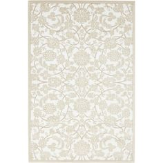 Himalaya Snow White Floral Area Rug (4' x 6'), Size 4' x 6'