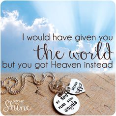 My Baby Flies With Angels Necklace - Rememberance Jewelry -