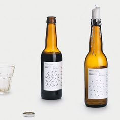 Mikkeller Autumn Porter - The label is printed with a heat sensitive color. When the label gets warm the dandelion seeds turns into raindrops.