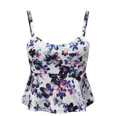 33309ee8ead63 Floral Crop Top Women Camisole Dill Tank Top Female Cropped Feminino Tops  Women s Black Cami Short Tops Vest Cropped Mothers