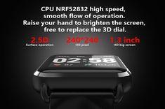Q13 Smart Watch - US$37.99 Sales Online black - Tomtop Samsung Accessories, Cell Phone Accessories, Smartwatch, Apple Technology, Bluetooth, Sport, Smartphone, Watches, Phones