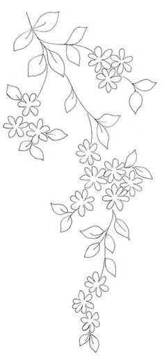 프랑스자수 꽃 도안입니다. 롱앤숏으로 꽃을 전부 채우셔도 예쁘고 테두리만 수 놓아도 예쁩니다. 도안 재... Embroidery Works, Hand Embroidery Flowers, Embroidery Dress, Embroidered Flowers, Vintage Embroidery, Silk Ribbon Embroidery, Machine Embroidery, Simple Embroidery Designs, Embroidery Patterns