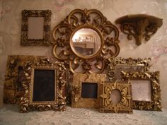 Ornate Open Picture Frames Gold  Vintage Style~Wedding~Roses Romantic  Lot 10 #Cottage