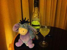 A little wine to help Eeyore sleep!