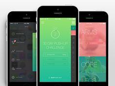 Fitness App UI by Aaron Humphreys
