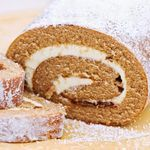 Pumpkin Roll... try it with Truvia instead of the aspartame listed in the original recipe...