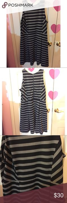 Black and Gray Striped Dress Black and gray striped dress. Gently used. Size 16. Brand APT9 Apt.9 Dresses