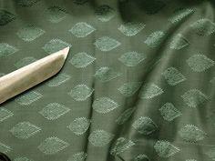 Jade Green Indian Jacquard Fabric for Bow Ties Brocade Fabric by the yard Wedding Dress Fabric Bridesmaid Banaras Sewing Crafting Dolls Jade Green Indian Jacquard Fabric for Bow Ties Brocade Fabric