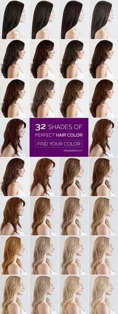 Hair Color Ideas - Finding the Best Hair Color For You Colour - sample hair color chart