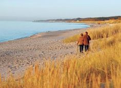 Autumn sweeps across Michigan's beach towns in broad strokes of color