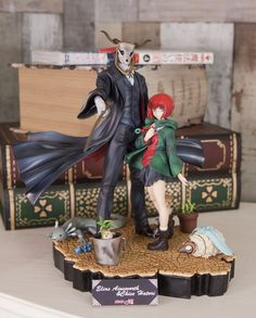 "Elias Ainsworth and Chise Hatori from the anime ""The Ancient Magus Bride"" Magus Bride Manga, Vocaloid, Anime Manga, Anime Art, Chise Hatori, Elias Ainsworth, The Ancient Magus Bride, Nerd, Anime Figurines"