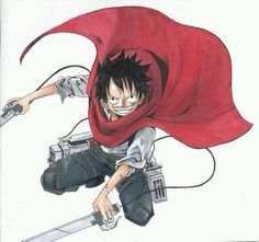 Luffy x Attack on Titans XD