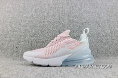 702e4eac27c Nike Air Max 270 Overseas Version Of The New Heel Half-palm As Jogging Shoes  Pink White AH6789-602 Super Deals