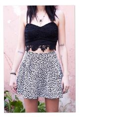 Leopard circle skirts