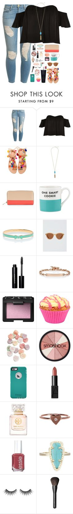 """the best revenge is to improve yourself"" by kaley-ii ❤ liked on Polyvore featuring Frame Denim, River Island, Elina Linardaki, Kendra Scott, Accessorize, Kate Spade, Draper James, Bobbi Brown Cosmetics, Hoorsenbuhs and NARS Cosmetics"