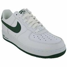 best sneakers 52155 8c39f ... Nike Men s NIKE AIR FORCE 1 BASKETBALL SHOES 13 (WHITE GORGE GREEN)  ...