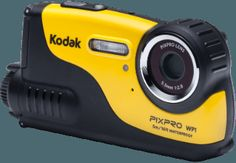 KODAK WP 1 Sport Actioncam, 16 Megapixel, CCD Sensor, Schwarz/Gelb