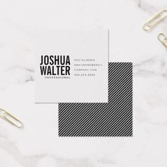 browse square business card design templates moo united states see more simple bold text with stripes square business card