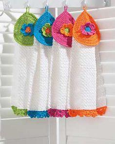 Pretty Flowers Tea Towels: free pattern