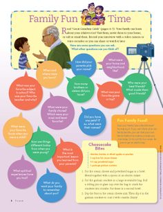Great questions for kids to get to know their grandparents.