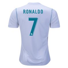 3a08217c2 2017 18 Cristiano Ronaldo Jersey Number 7 Home Replica Men s Real Madrid  Team Real Madrid