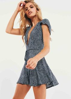 7c52697eb098 Georgina Playsuit - Navy Floral Short Summer Dresses