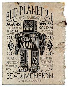 Red Planet 2.1  Hand-lettering, apparel design