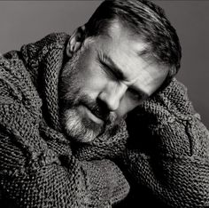 Christoph Waltz photographed by Inez van Lamsweerde and Vinoodh Matadin for the New York Times in 2010, via Modern Hepburn