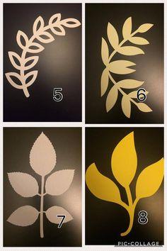 Paper Flower Leaves Stem Leaves Vines Paper Leaves Leaf | Etsy