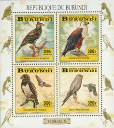 BUR 14102 aBirds of prey Birds Of Prey, Stamps, Animals, Postage Stamps, Seals, Animales, Animaux, Animal, Animais