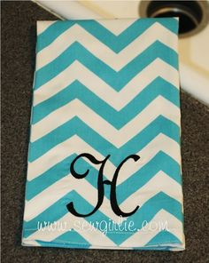 Design Your Own Monogrammed Fabric Tea Towel