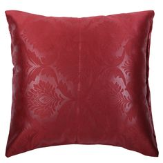 Shaliindia Jacquard Floor Cushion Cover- Set of 2 Throw Pillow Covers with Zipper - 22 x 22 Inches,Polyster,Chocolate Brown