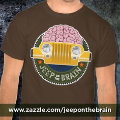 Can't stop thinkin' 'bout Jeeps! Made from 100% cotton, it wears well on anyone. Double-needle stitched bottom and sleeve hems for extra durability. While ordering, feel free to make it your own by clicking the CUSTOMIZE IT! button to change the size and placement of the graphic as well as shirt style and color. T-shirts and other products available for Jeep JK, TJ, YJ and CJ Wranglers. http://www.zazzle.com/jeep_on_the_brain_cj_t_shirts-235049131332103958