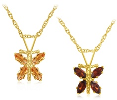 8/27/2012 Visit the Zoo Collection   $7.99  + FREE SHIPPING Yellow Gold 1/3 Carat Citrine or Garnet Dragonfly Pendant