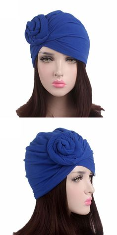 70f0d8900da50 Hot sale stretchy turban head wrap sleep hat women india caps scarf hat cap  6 colors
